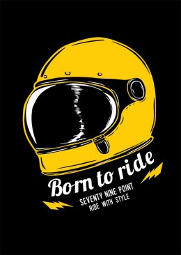 79 Point Born To Ride - A3 Poster