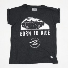 79 Point Born To Ride Women T-Shirt - Loose Dark Grey Melange