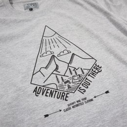 79 Point Adventure Is Out There T-Shirt - Light Grey Melange