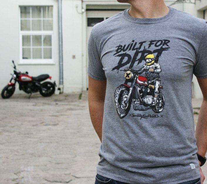 79 Point Built For Dirt T-Shirt - Dark Grey Melange