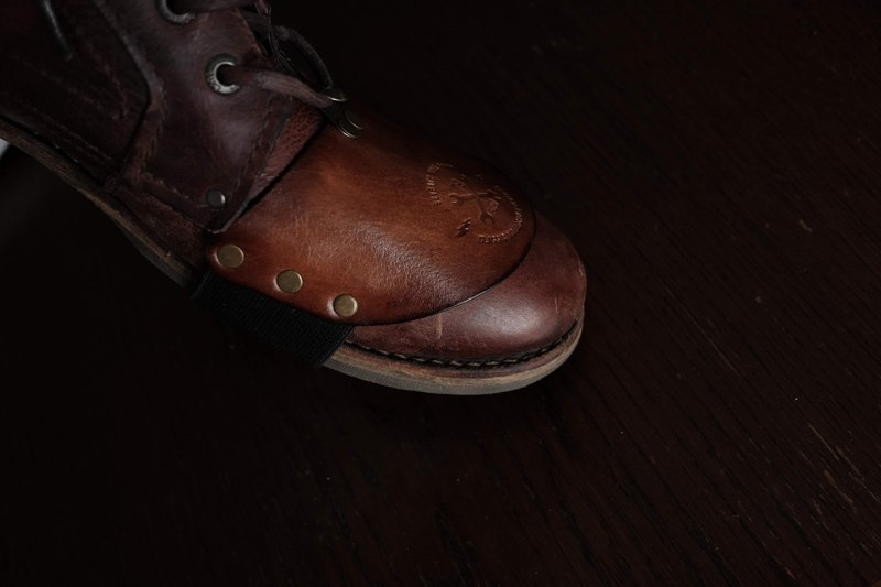Leather shoe protector 79 Point x Dowgird Leather Goods - Brown