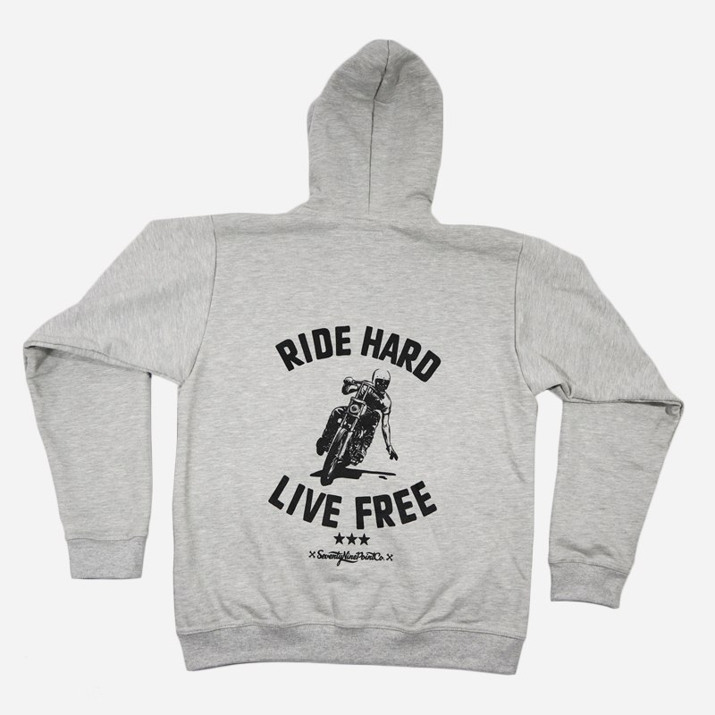 79 Point Ride Hard Hoodie - Light Grey