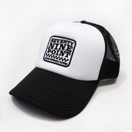 79 Point Check Flag Trucker Cap - Black & White