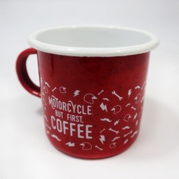 79 Point But First Coffee Enamel Mug - Red 0,4L
