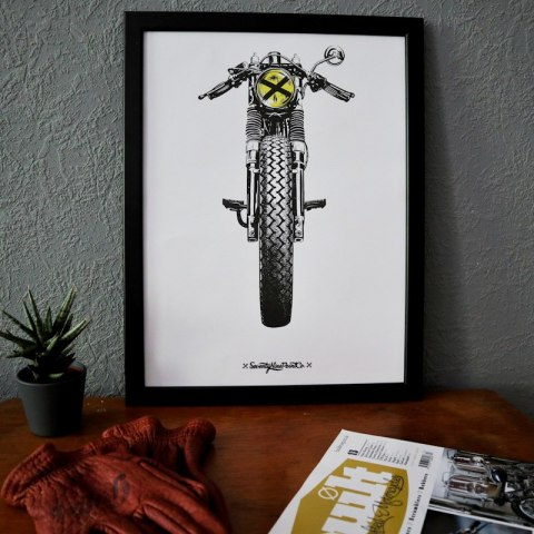 79 Point Cafe Racer - A3 Poster