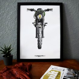 Plakat Motocyklowy 79 Point Born To Ride - A3