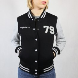 79 Point Oldschool College Ladies Sweat - Black/Gray