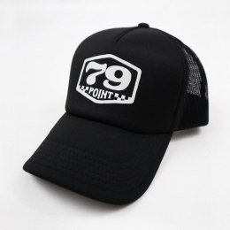 79 Point Classic Badge Trucker Cap - Black