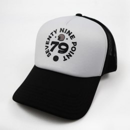 79 Point Open Helmet Trucker Cap - Black & White