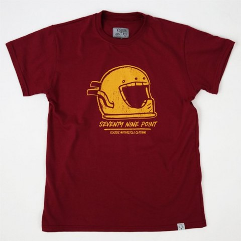 79 Point Iconic Helmet T-Shirt - Burgundy