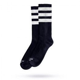 American Socks Back In Black II - Triple White Striped