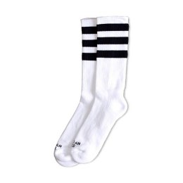 American Socks Old School II - Triple Black Striped